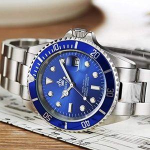 Other - Submariner Silver Quartz Luxury Blue Watch Mens